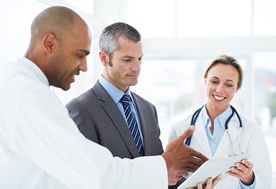 professionals with physician